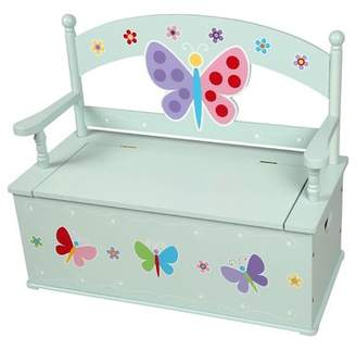 Olive Kids Olive Butterfly Garden Kids Bench with Storage