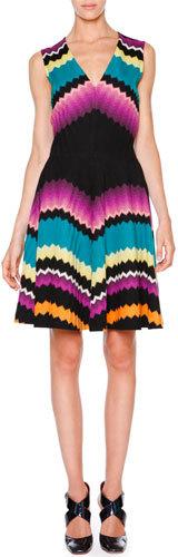 Missoni Sleeveless Fit-&-Flare Zigzag Dress