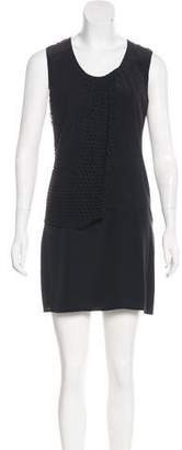 Edun Silk Polka Dot-Accented Dress