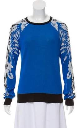 A.L.C. Patterned Crew Neck Sweater