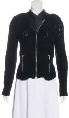 IRO Kiley Leather-Accented Jacket