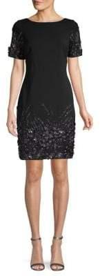 Aidan Mattox Embellished Sheath Dress