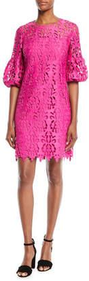 Shoshanna Vina Lace Dress w/ Bell Sleeves