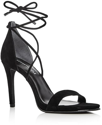 Kenneth Cole Berry Suede Ankle Tie High Heel Sandals $140 thestylecure.com