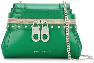 Twin-Set zip detail shoulder bag $274.51 thestylecure.com