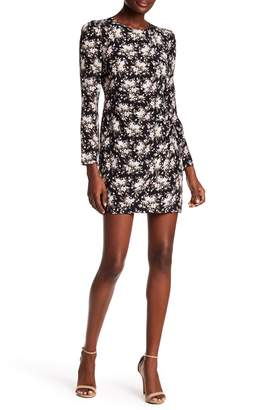 Club Monaco Amelda Floral Print Silk Dress