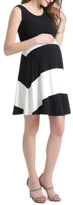Kimi and Kai Amanda Stripe Maternity Babydoll Dress