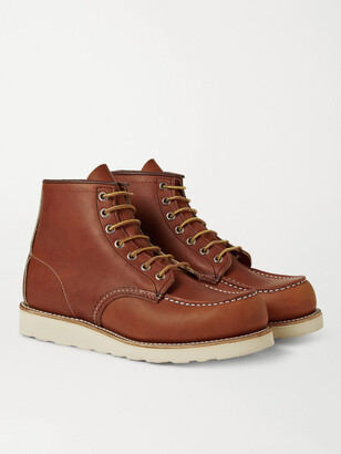 Red Wing Shoes 875 Moc Leather Boots - Men - Brown