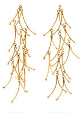 Karry O - Long Twigs Gold Plated Drop Earrings - Womens - Gold
