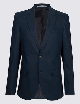 Marks and Spencer Big & Tall Linen Blend 2 Button Jacket