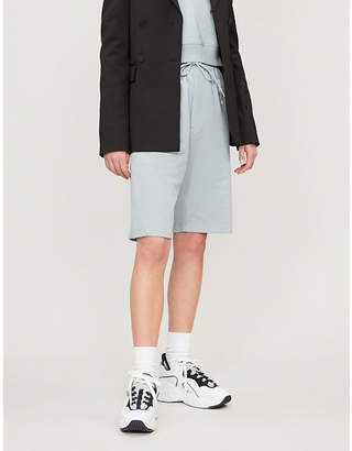 Y-3 Y3 Logoed high-rise relaxed cotton jogging bottoms