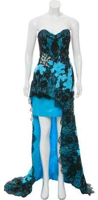 Terani Couture Embellished Lace Gown