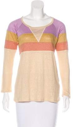 Isabel Marant Linen Colorblock Top
