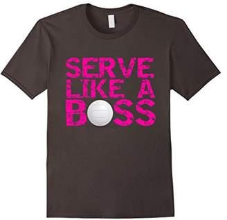 Serve Like a Boss Girls Womens Volleyball Fashion T Shirt