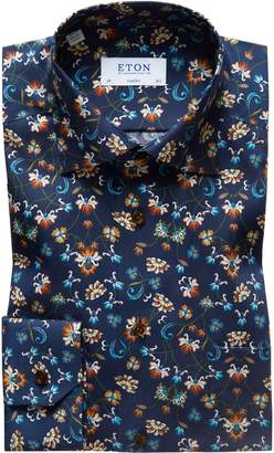 Eton Classic Fit Floral Dress Shirt