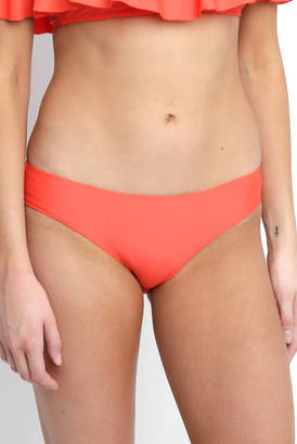Salt & Sunshine Solid Red Hipster Bikini Bottom