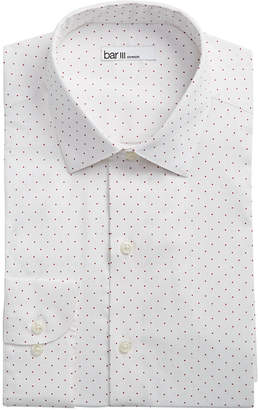 Bar III Men's Slim-Fit Stretch Easy Care Polka Dot Print Dress Shirt