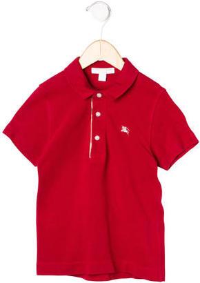 Burberry Boys' Short Sleeve Polo Shirt $45 thestylecure.com