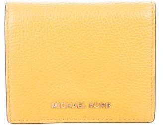 Michael Kors Grained Leather Compact Wallet