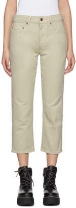 6397 Beige Shorty Jeans