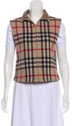 Burberry Wool-Blend Nova Check Vest
