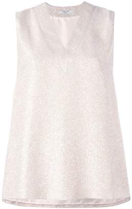Lanvin sleeveless lamé top
