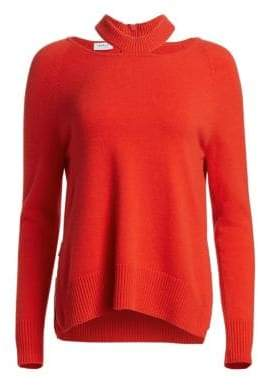 Akris Punto Cashmere-Blend Neckline Cut-Out Pullover