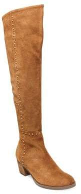 Design Lab Lord & Taylor Odel Suede Studded Over-The-Knee Boots
