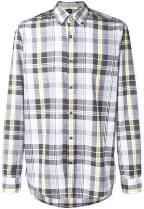 HUGO BOSS plaid long-sleeve shirt