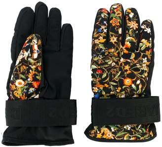 DSQUARED2 floral ski gloves