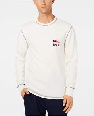 Polo Ralph Lauren Men's Waffle-Knit Crew-Neck T-Shirt