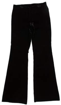 Tory Burch Velvet Wide-Leg Pants