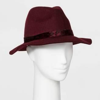A New Day Women's Felt Fedora Hat Burgundy
