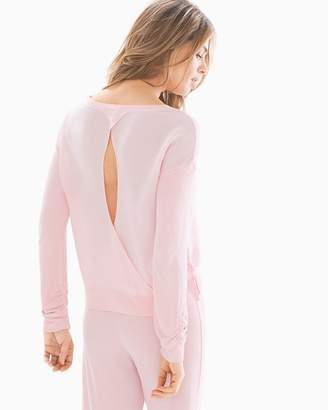 Splendid Fashion Always Keyhole Back Pajama Top Blush