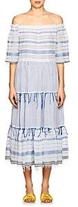 Lemlem Women's Tiki Striped Cotton Maxi Dress - Lt. Blue Str