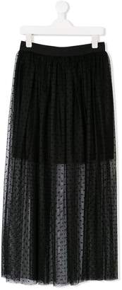 Dondup Kids TEEN polka dot tulle layered skirt