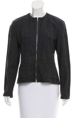 Narciso Rodriguez Virgin Wool Collarless Jacket