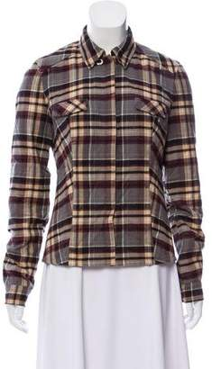 Authier Plaid Button-Up Jacket