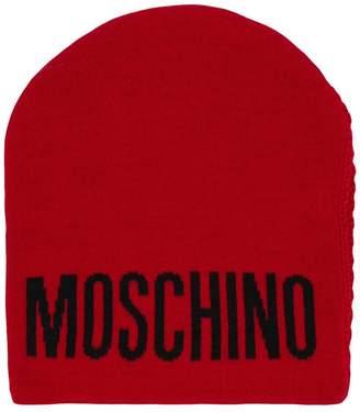 Moschino logo intarsia beanie