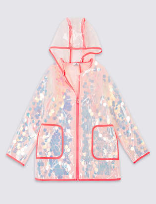 Marks and Spencer Hooded Sequin Raincoat (3-16 Years)