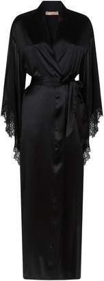 Ermanno Scervino Silk Lace Robe