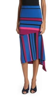 Tracy Reese Dynamic Stripe Midi Skirt