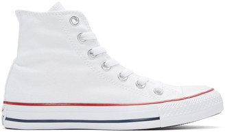 Converse White Classic Chuck Taylor All Star OX High-Top Sneakers $55 thestylecure.com