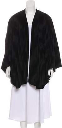 Adrienne Landau Wool-Lined Knit Shawl