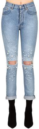 Couture Forte Dei Marmi Embellished Stretch Denim Jeans