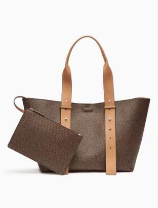 Calvin Klein monogram tote bag + zip pouch