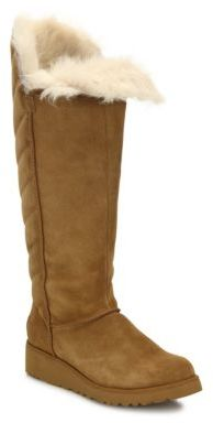 UGG Rosalind Tall Foldover Wedge Boots $280 thestylecure.com