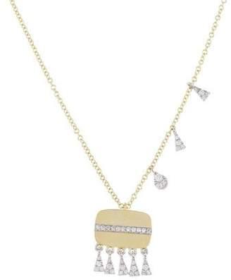 Meira T 14K Diamond Tassel Pendant Necklace