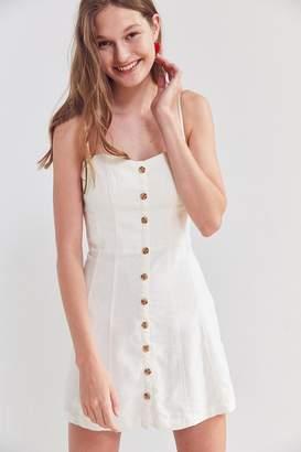 Kimchi Blue Lilyanna Linen Button-Down Dress $59 thestylecure.com