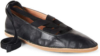 Dries Van Noten Leather Lace-Up Flats